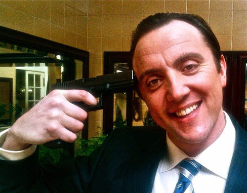 Peter Serafinowicz: Shooting himself by pirating his own movies?