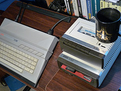 An Atari 130XE, one of the more obscure 80s home computers
