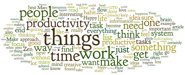 Example tag cloud of a blog post, created using Wordle
